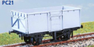 Parkside Models PC21 - BR 16 Ton Mineral Wagon (Non Vacuum Fitted) Decals Included