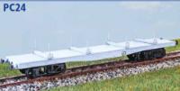 Parkside Models PC24 - LNER (ex NER) Bogie Bolster Wagon (Quad) Decals Included
