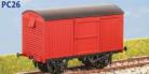 Parkside Models PC26 - LNER 12 Ton Van (Corrugated Ends) Decals Included