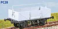 Parkside Models PC28 - BR Shock Absorbing Open Wagon (Decals Included)