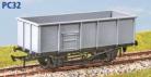 Parkside Models PC32 - BR 21 Ton Mineral Wagon: Rebuilt 1977