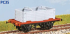 Parkside Models PC35 - LNER 'Conflat S' Container Wagon with DX Container