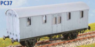 Parkside Models PC37 - GWR 'Python' Covered Carriage Truck - Decals Included