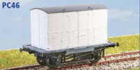 Parkside Models PC46 - BR 'Conflat A' Container Wagon (Diag. 1/067) with FM Container (Decals Included)