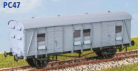 Parkside Models PC47 - Southern Railways CCT Parcels Van - Plywood Sides (Decals Included)