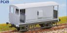 Parkside Models PC49 - LMS 20 Ton Goods Brake Van (D.1657) Decals Included
