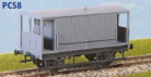 Parkside Models PC58 - LMS ex MR Design 20 Ton Goods Brake Van (D. 1659) Decals Included