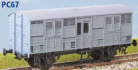 Parkside Models PC67 - GWR 'Beetle' Prize Cattle Wagon (W7) 1909 (Decals Included)