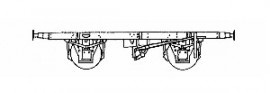 BR 10ft. Wagon Underframe Kit, 8 shoe clasp, vac brake fitted