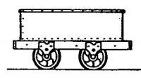 Rodney Stenning 009 - T45 Talyllyn Railway Iron End Door Wagon (pack of 5)