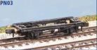 Peco N Gauge Chassis Kit (EX Parkside PN03) - 12ft Wheelbase Chassis (N Gauge)