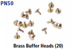 Peco N Gauge (EX Parkside PN50) - Brass Buffer Heads (20)