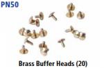 Peco N Gauge (EX Parkside PN50) - Brass Buffer Heads (20)