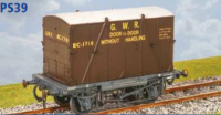 Parkside Models PS39 - GWR Container Wagon (H7) with 'B' Container (BC1)