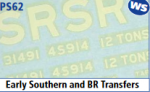 Parkside Models 7mm - Early Southern & BR Transfers