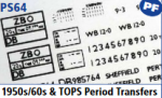 Parkside Models 7mm - 1950s/60s & Tops Transfers