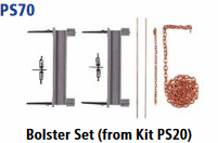 Parkside Models 7mm - Bolster Set (PS70)