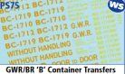 Parkside Models 7mm - GWR/BR 'B' Container Transfers