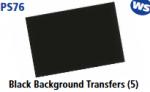 Parkside Models 7mm - Black Background Transfers (5)
