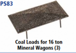 Parkside Models 7mm - Coal Loads for 16 Ton mineral wagons (3) PS83
