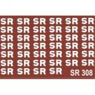 "Modelmaster Decals - S.R.Large 18"" Company initials used on wagon sides 1923-36"